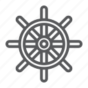 boat, navigator, rudder, ship, steering, travel, wheel icon