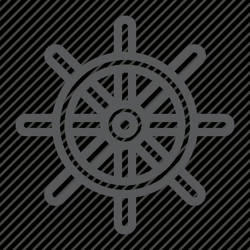 boat, navigator, rudder, ship, steering, travel, wheel icon