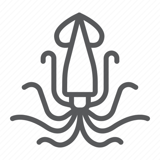 Animal, aquatic, nature, ocen, sea, squid, underwater icon - Download on Iconfinder