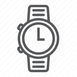 clock, dial, hour, strap, time, underwater, watch icon