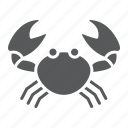animal, aquatic, crab, nature, ocen, sea, underwater icon