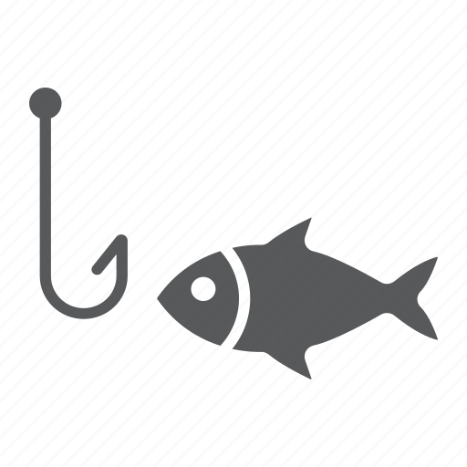 animal, fish, fishing, hook, river, sea, underwater icon