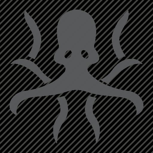 animal, aquatic, nature, ocen, octopus, sea, underwater icon