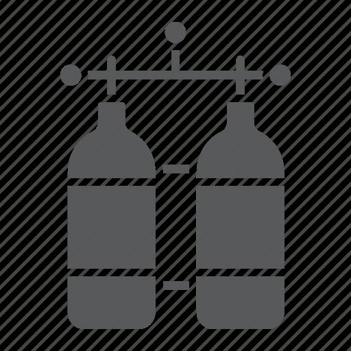 cylinder, dive, diving, oxygen, tank, underwater icon