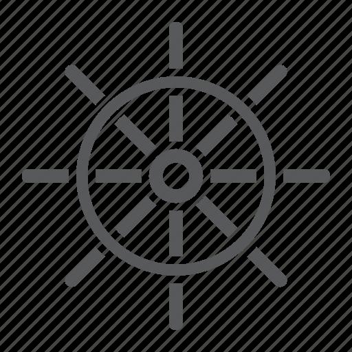 Boat, navigator, rudder, ship, steering, travel, wheel icon - Download on Iconfinder