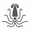 animal, aquatic, nature, ocen, sea, squid, underwater icon