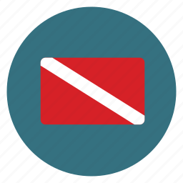 dive, diver down, flag, safety icon