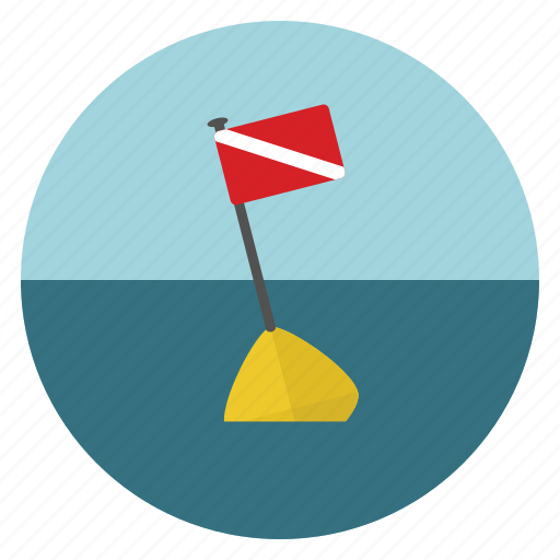 dive, flag, ocean, sea icon