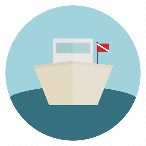 boat, dive, flag, ocean, sea, ship icon