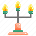 candle, candlelamp, candlestick, flame, interior, lamp icon