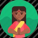 indian, diwali, hindu, indian woman, hindu woman icon