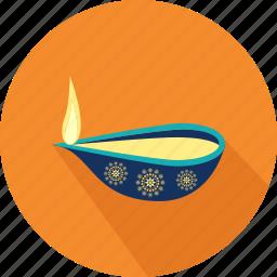 celebration, decoration, diwali, diwali lamp, diya, happy diwal, hindu festival icon