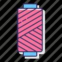 bobbin, material, sewing icon