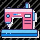 machine, sew, sewing