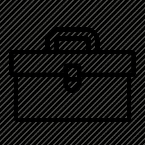 box, construction, diy, storage, toolbox icon