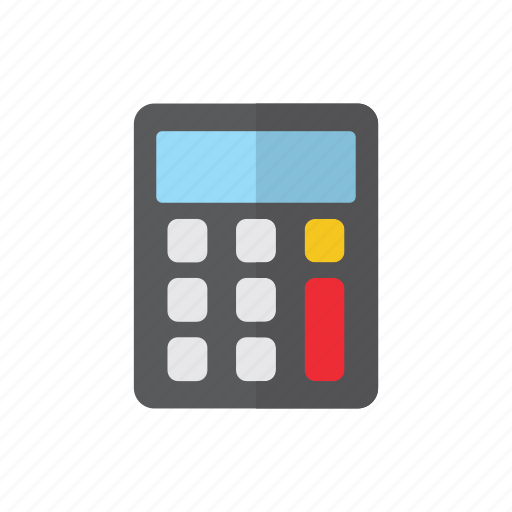 calculator, delivery, logistics icon
