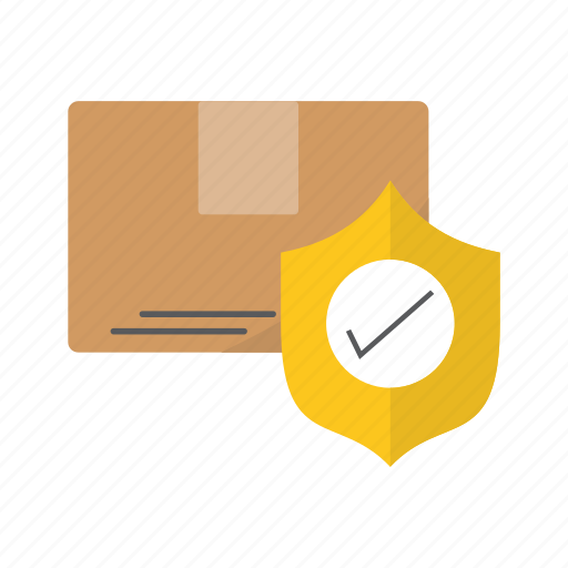 card, delivery, logistics, protected icon