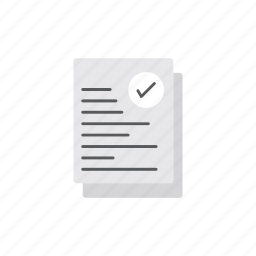 checked, delivery, document, logistics icon