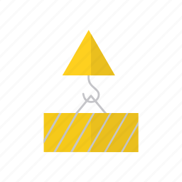 container, delivery, hook, logistics icon