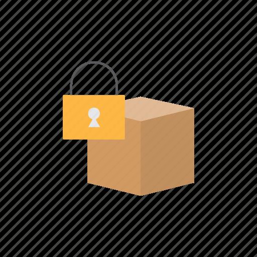 box, delivery, locked, logistics icon