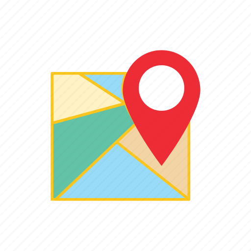 delivery, logistics, map icon
