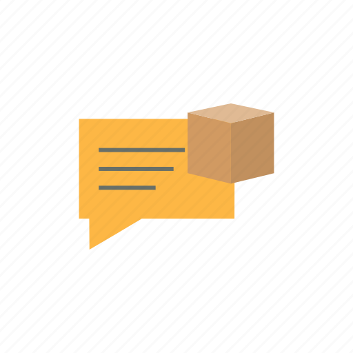 delivery, logistics, message icon