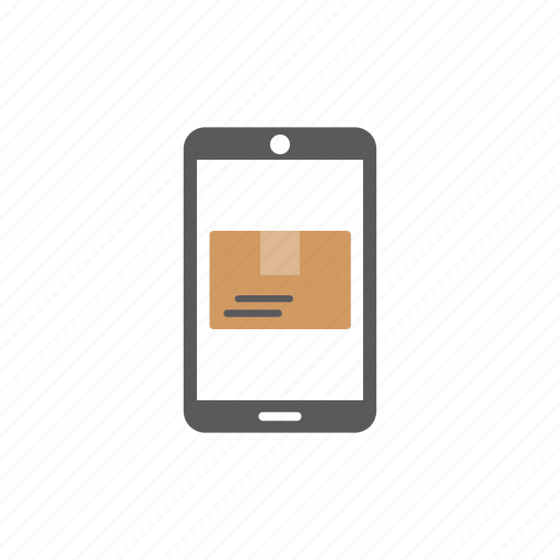 delivery, logistics, mail, phone icon