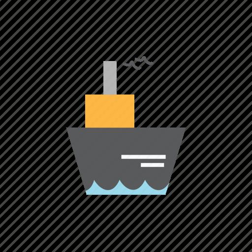 delivery, logistics, ship, travel icon