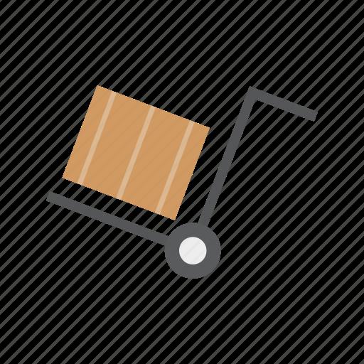 box, delivery, logistics, trolley icon
