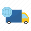 delivery, logistics, travel, truck icon