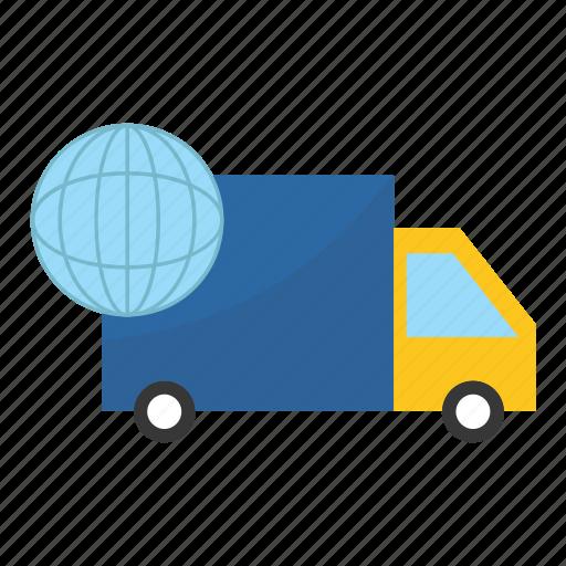 delivery, logistics, travel, truck icon