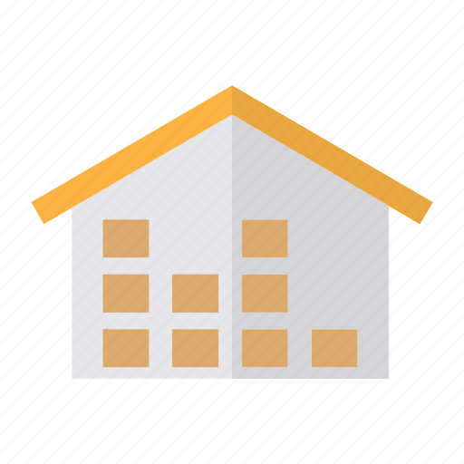 delivery, house, logistics, ware icon