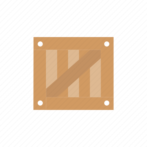 Box, delivery, logistics, wooden icon - Download on Iconfinder