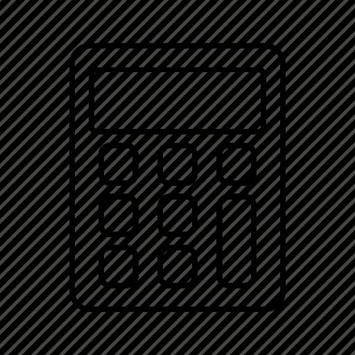 calculator, delivery, logistics icon