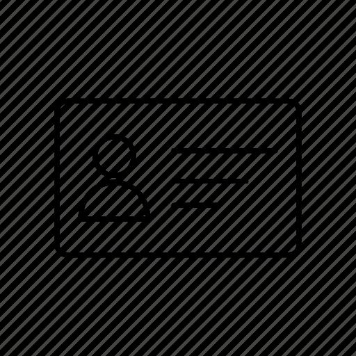 card, delivery, id, logistics icon