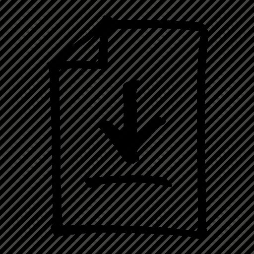 arrow, data, down, download, file, server, storage icon