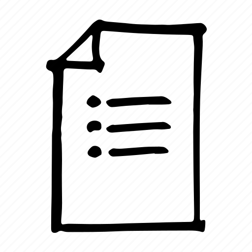 documents, format, list, paper, sheet, text, type icon