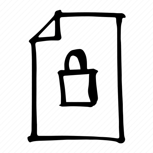 Locked, secure, safe, padlock, protection, safety, password icon