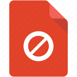 access, banned, block, denied, document, forbidden, not allowed icon