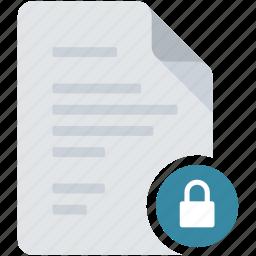access, document, lock, locked, protect, unlock, unlocked icon