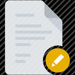document, edit, pen, pencil, preferences, tag, write icon