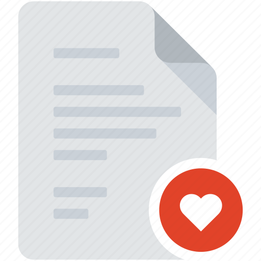 best, document, favorite, favorites, heart, love, romance icon