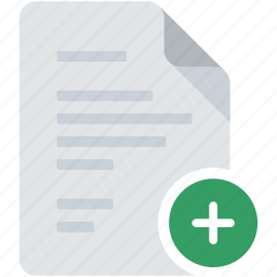 add, create, document, file, new, plus, text icon