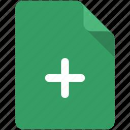 add, create, doc, document, file, new, plus icon