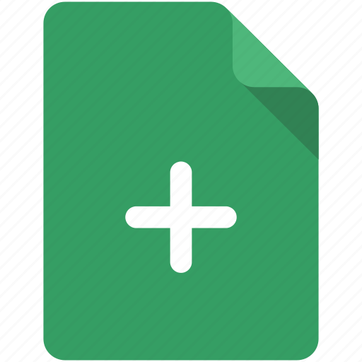 Add, create, doc, document, file, new, plus icon - Download on Iconfinder