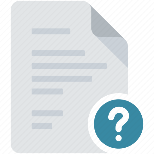 document, enquiry, lost, query, question, question mark, unknown icon