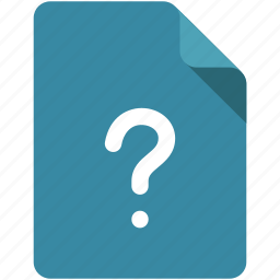 document, lost, question, question mark, sign, type, unknown icon
