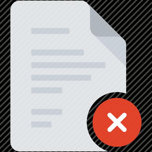 close, delete, document, forbidden, remove, skip, wrong icon