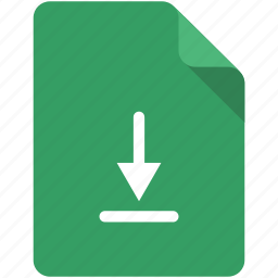 arrow, document, down, download, keep, save, sync icon