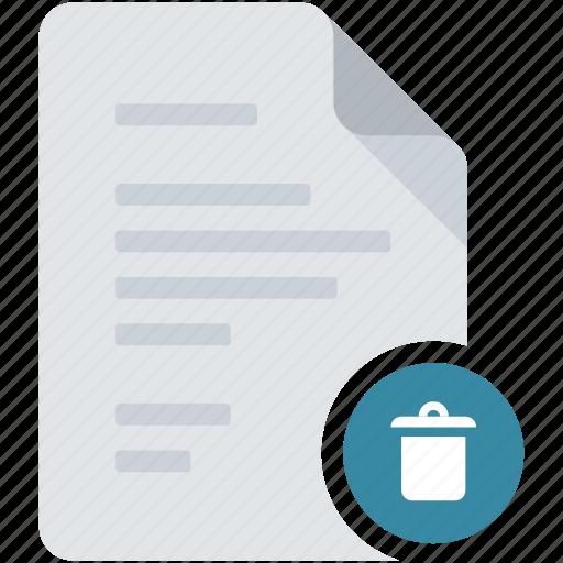 bin, delete, document, empty, remove, trash, used icon